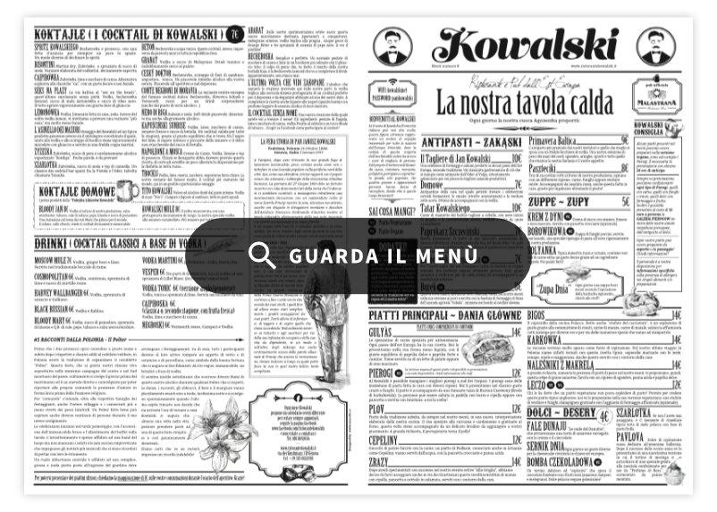 Kowalski Ristorante e Pub dall'Est Europa - menu